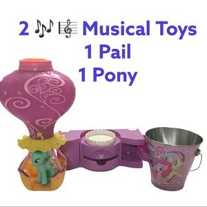 Hot Air Balloon w/ pony, musical stage, and bucket